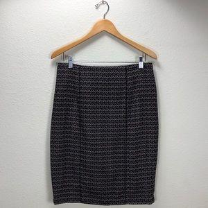 Mossimo Purple & Black High Waist Pencil Skirt